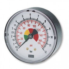 "Contimac manometer 1/4"" axiale aanskuiting (max 12 bar) 25521"